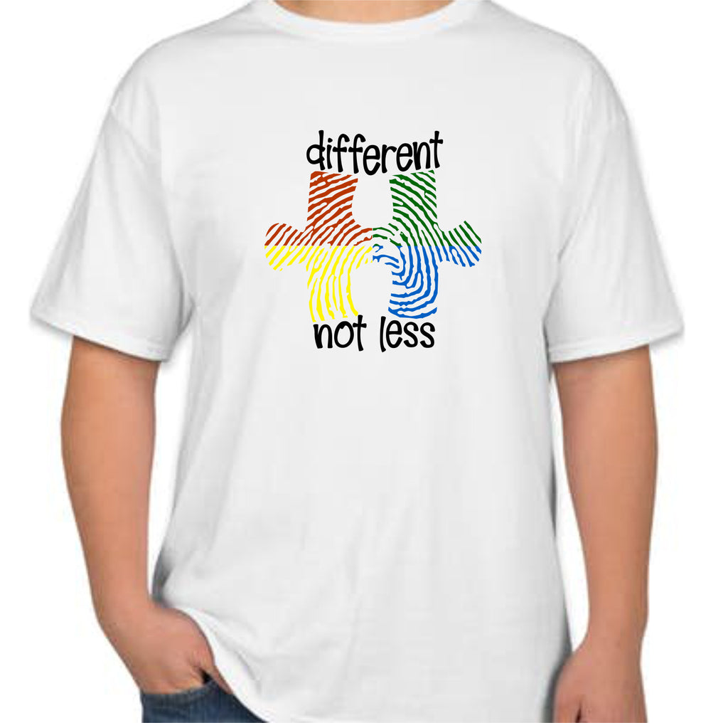 "Autism ""Different Not Less"" Kids T-Shirt"