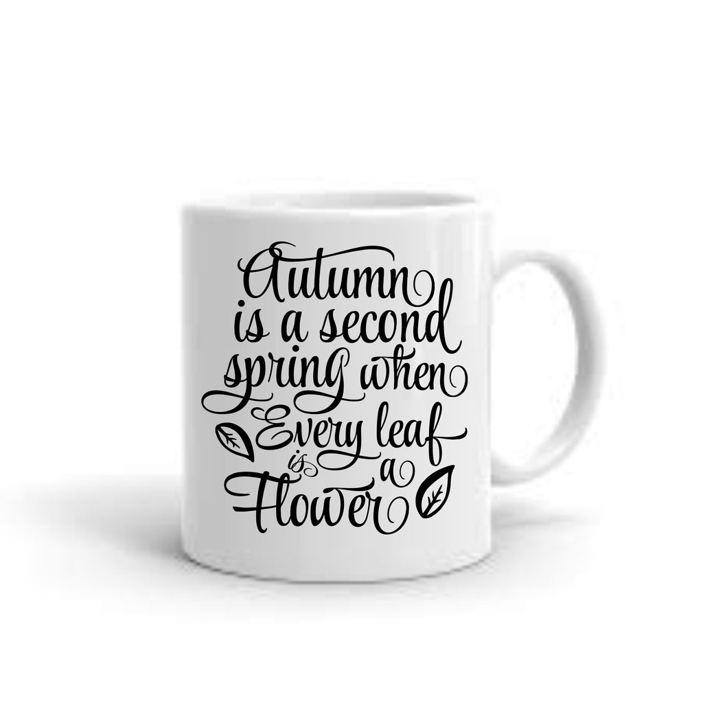 Autumn Quote Coffee Mug mug - TruColors Art & Design