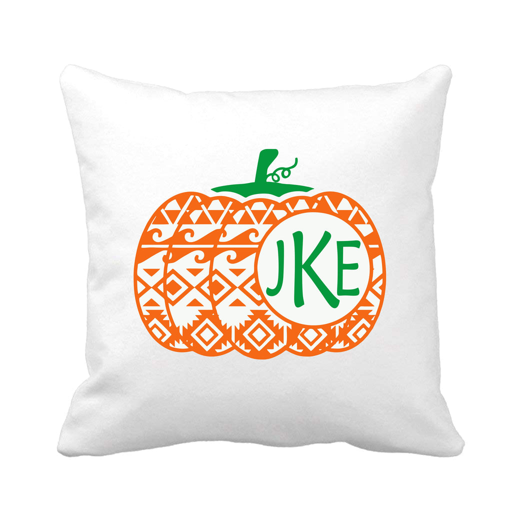 Aztec Print Pumpkin Throw Pillow pillow - TruColors Art & Design