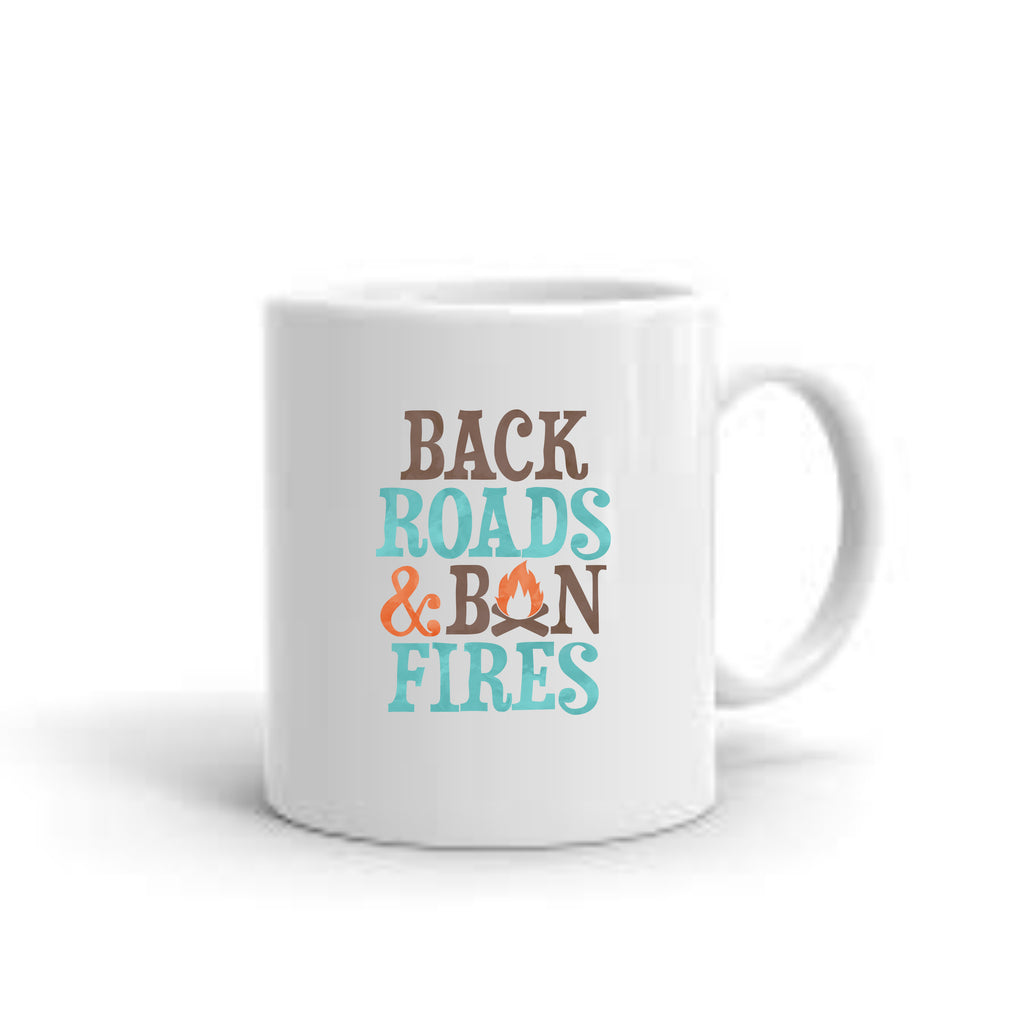Back Roads & Bonfires Coffee Mug mug - TruColors Art & Design