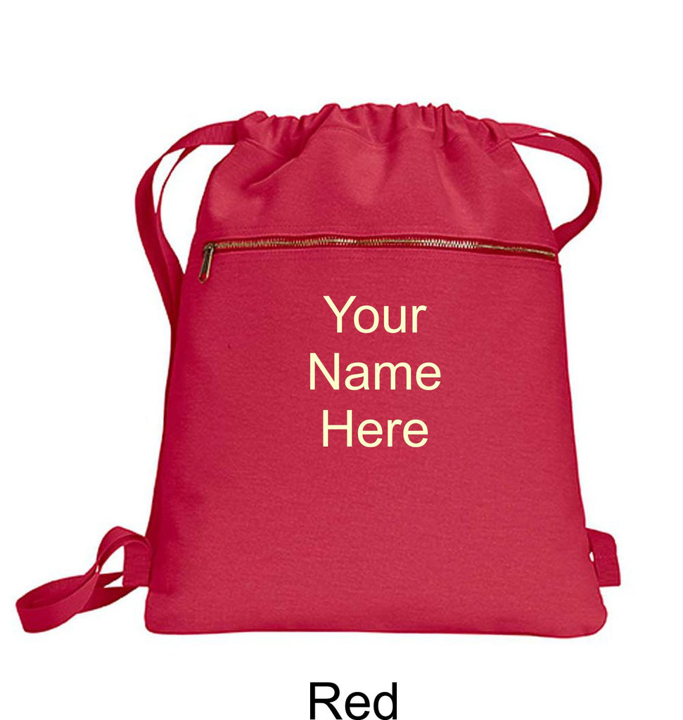 Personalized Canvas Cinch Sack Gifts - TruColors Art & Design