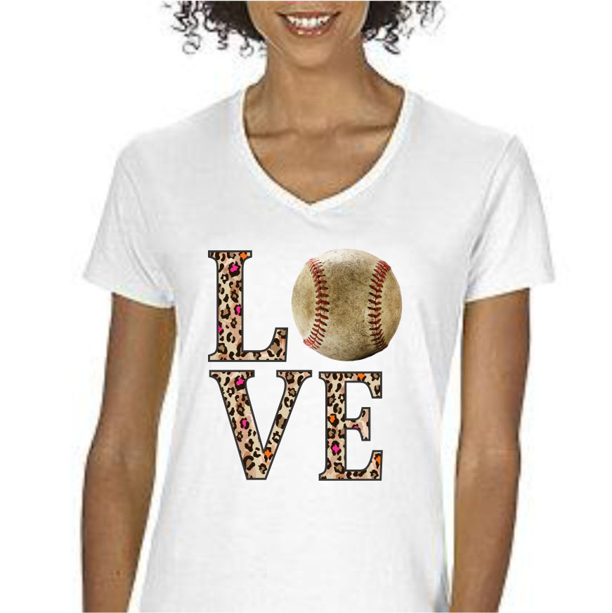 """Baseball Love"" Women's T-Shirt T-Shirts - TruColors Art & Design"