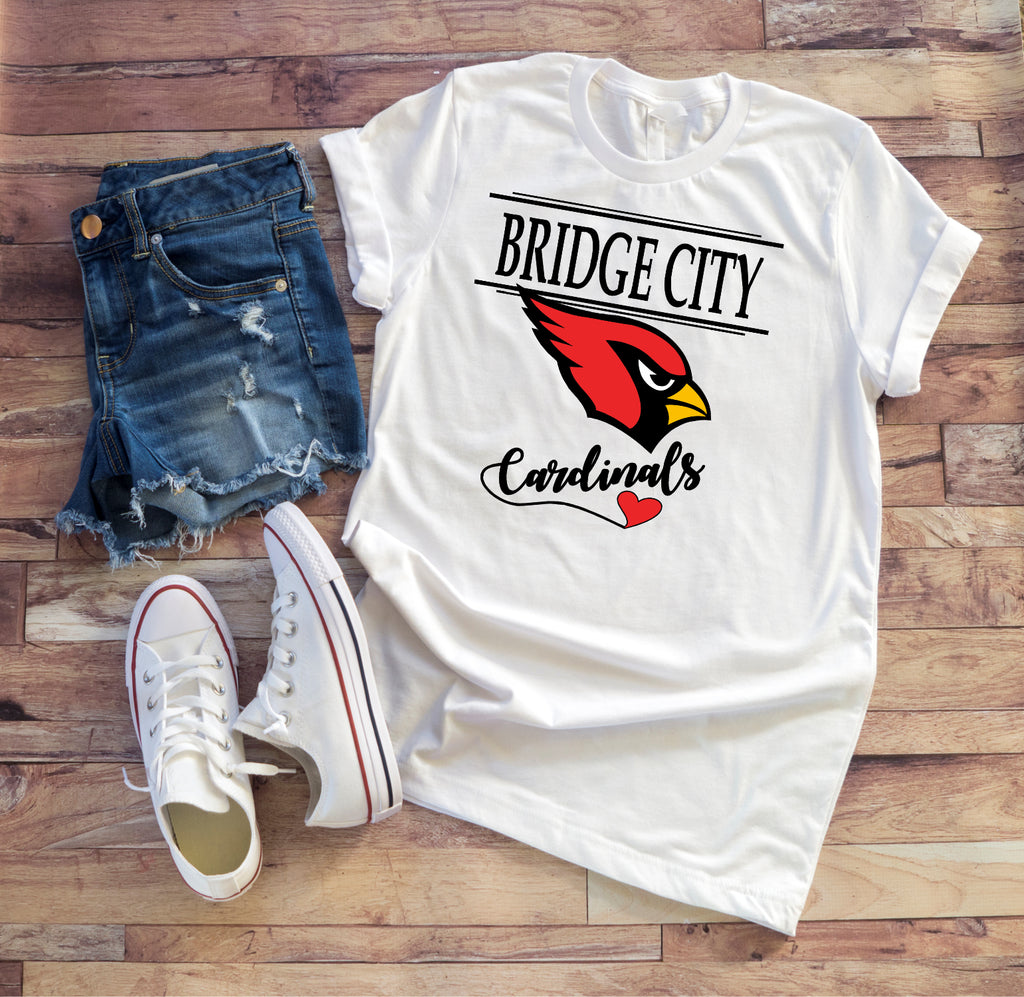 Bridge City Cardinals White Tee