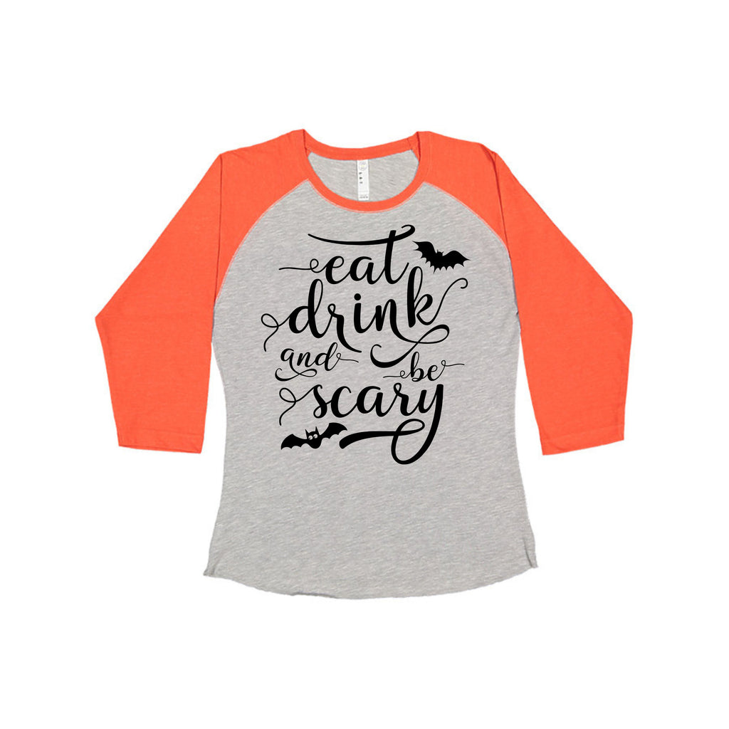 """Eat Drink & Be Scary"" Ladies Tee T-Shirts - TruColors Art & Design"