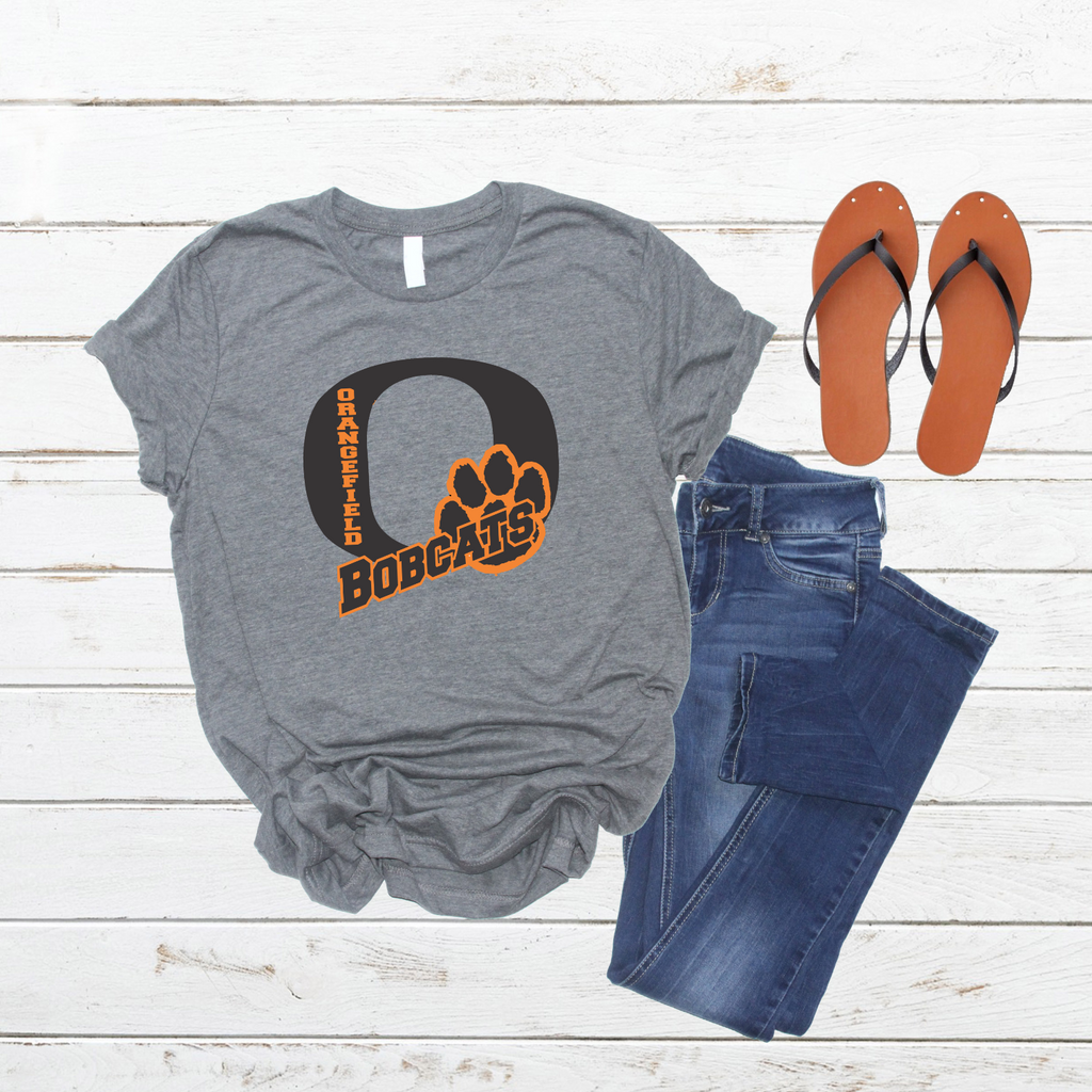 "Orangefield ""Big O"" Men's & Women's Grey T-Shirt"