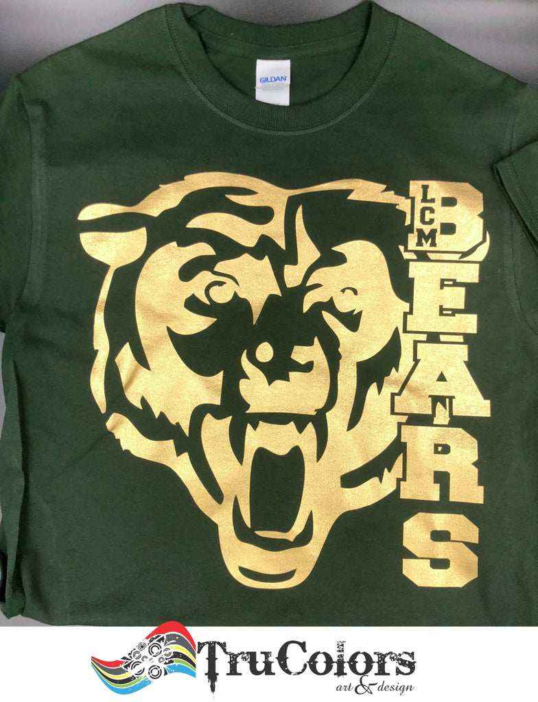 LCM Bears School Spirit T-Shirt T-Shirts - TruColors Art & Design