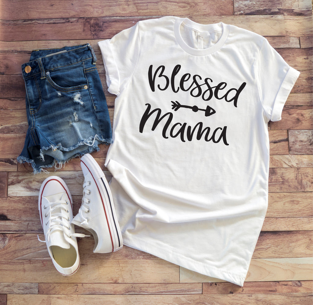 Blessed Mama Ladies Tee