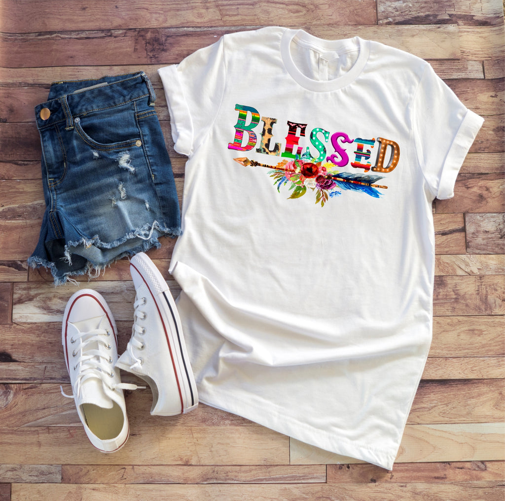 """Blessed"" Ladies Tee"