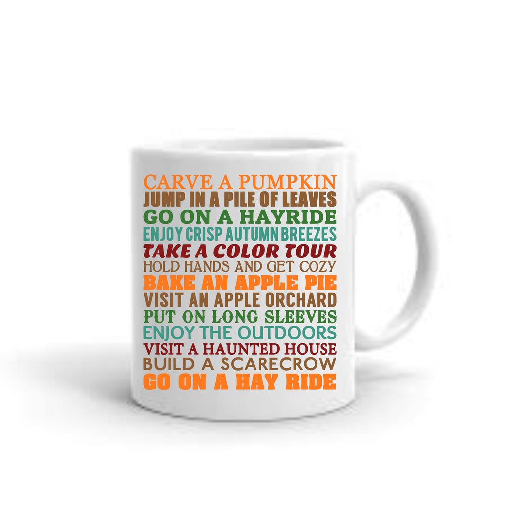 Fall Bucket List Coffee Mug mug - TruColors Art & Design