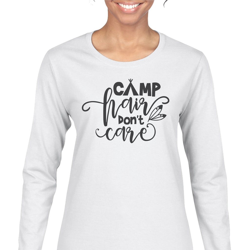 """Camp Hair Don't Care"" Ladies Tee T-Shirts - TruColors Art & Design"
