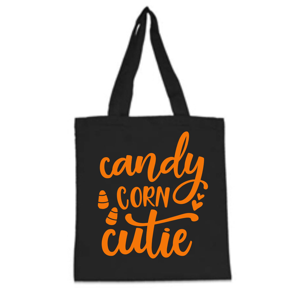 """Candy Corn Cutie"" Halloween Trick-Or-Treat Bag Bags - TruColors Art & Design"