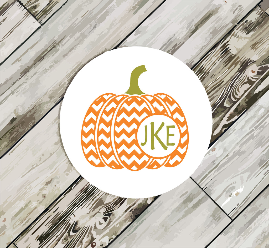 Chevron Pumpkin Coasters coasters - TruColors Art & Design