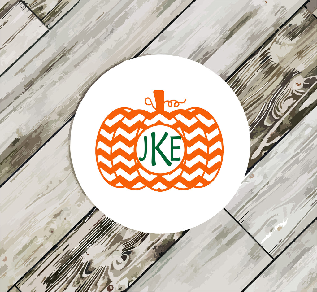 Oh So Cute Chevron Pumpkin Coasters coasters - TruColors Art & Design
