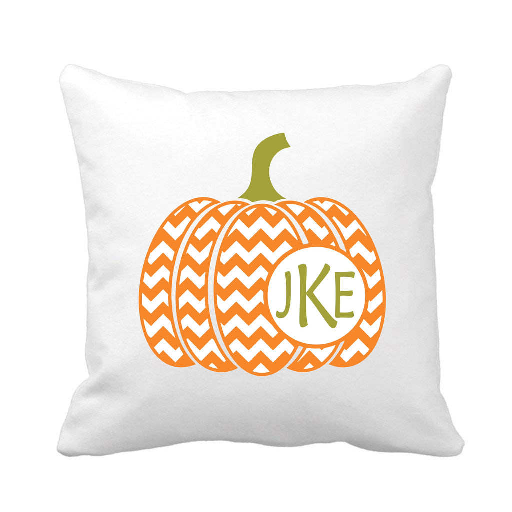 Chevron Pumpkin Throw Pillow Gifts - TruColors Art & Design