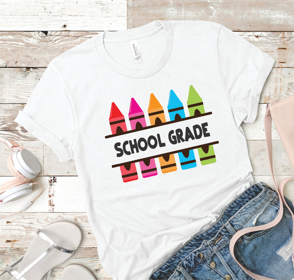 Your School Grade - Crayons - Women's Tee