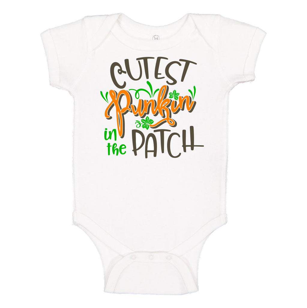 The Cutest Punkin' In The Patch Children's Tee Onesie - TruColors Art & Design