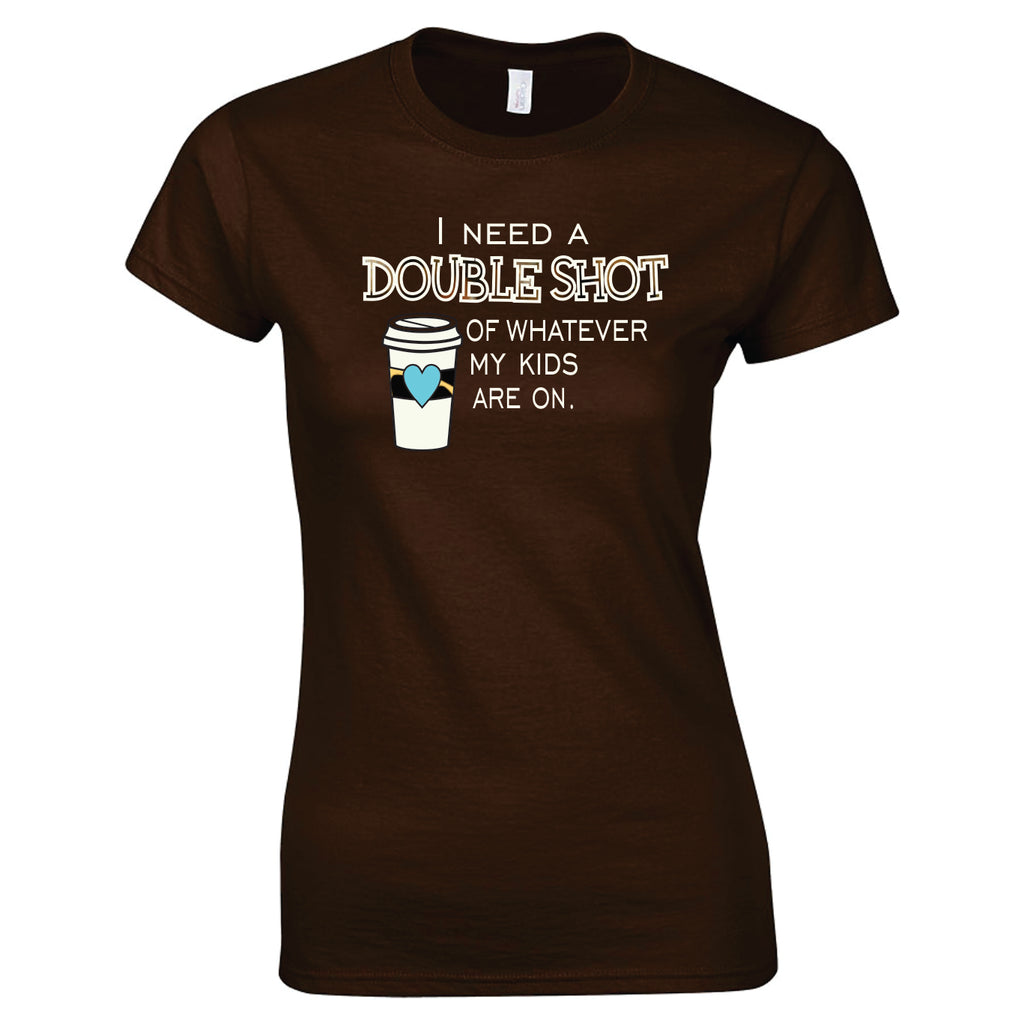 Double Shot #momlife Tee T-Shirts - TruColors Art & Design