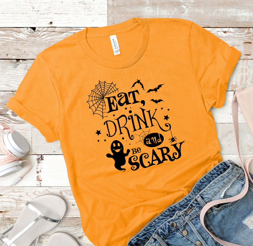 Eat, Drink And Be Scary Ladies Tee