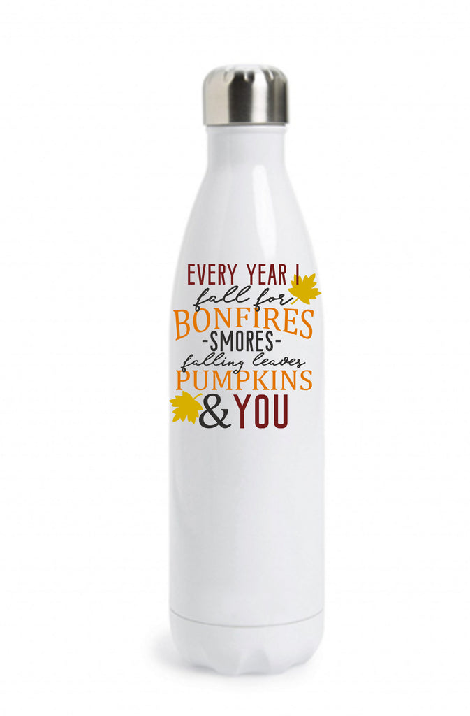 Every Year I Fall For... Water Bottle Water Bottle - TruColors Art & Design