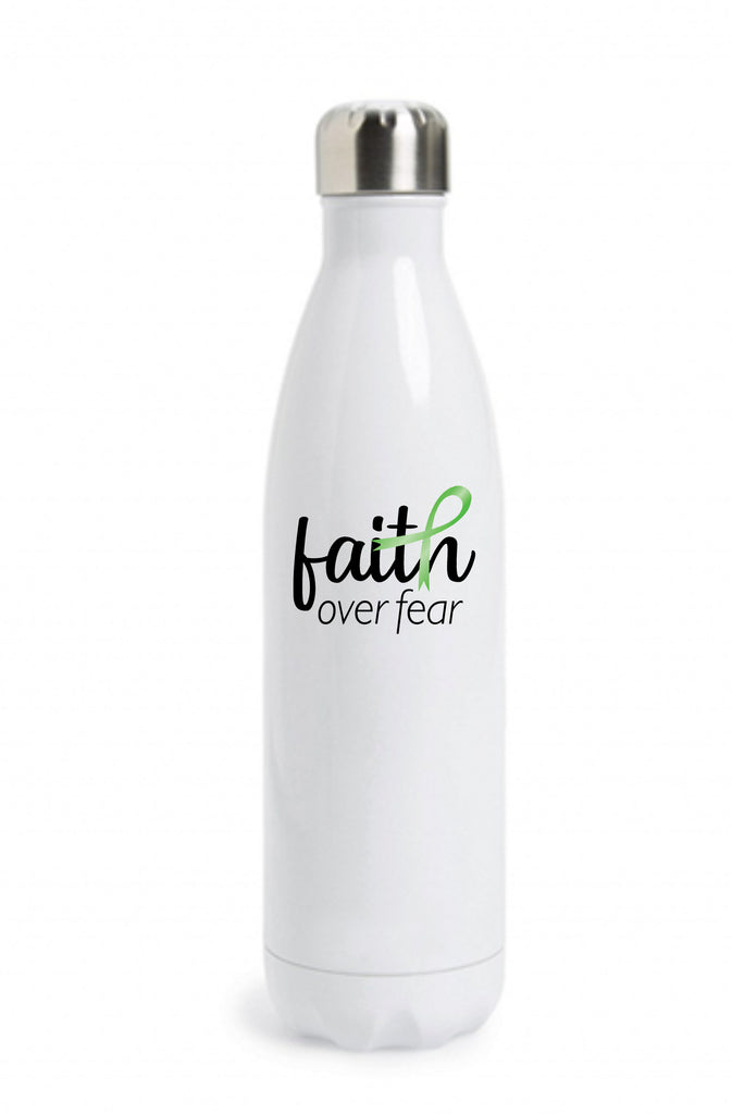 """Faith Over Fear"" Lyme Disease Awareness Water Bottle Water Bottle - TruColors Art & Design"