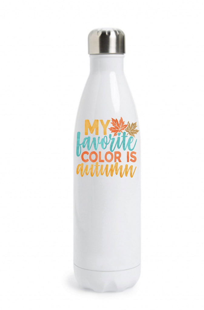 My Favorite Color Is Autumn Water Bottle Water Bottle - TruColors Art & Design