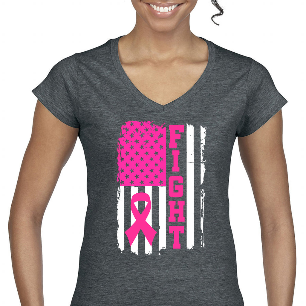 """Fight"" Breast Cancer Awareness Women's Tee T-Shirts - TruColors Art & Design"