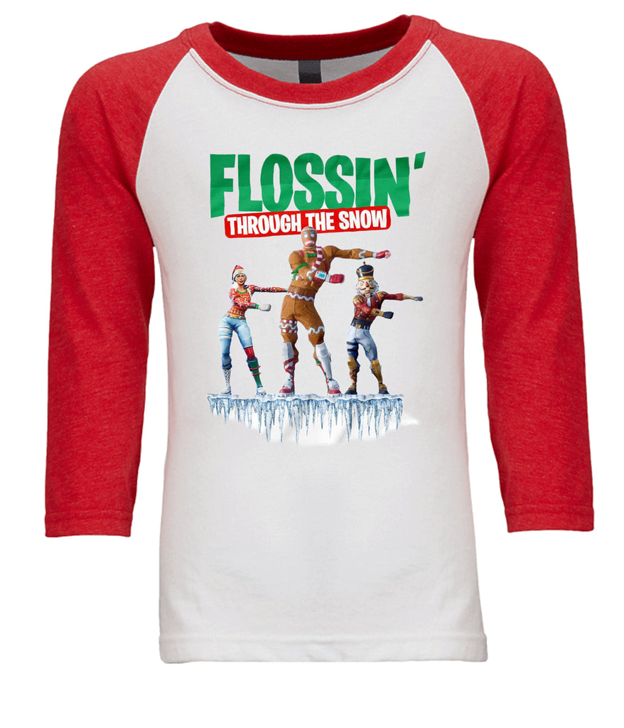 """Flossin' Through The Snow"" Tee T-Shirts - TruColors Art & Design"