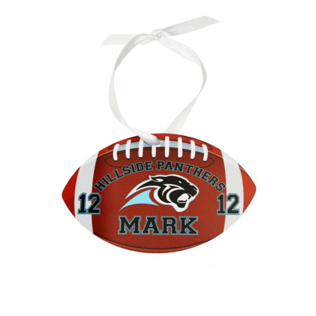 Personalized Football Christmas Ornaments Gifts - TruColors Art & Design