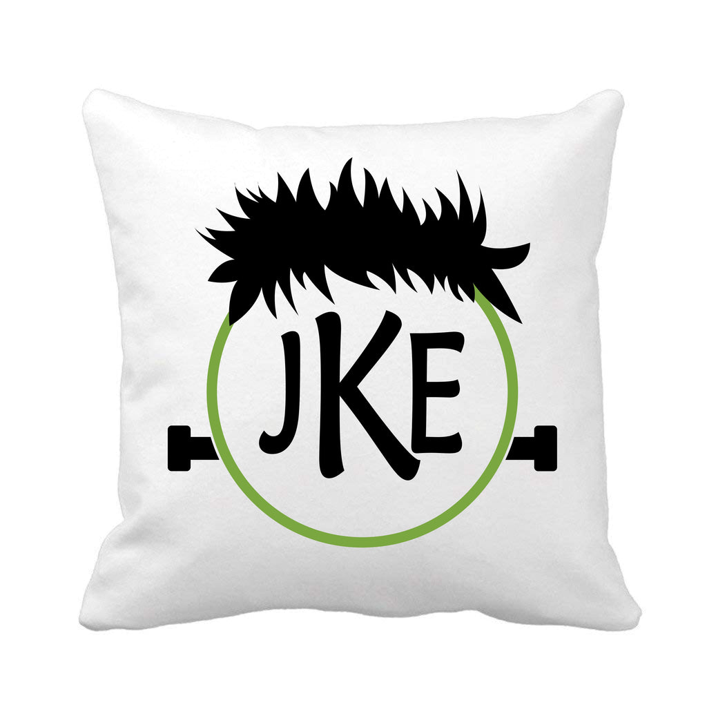 Frankenstein Halloween Monogrammed Throw Pillow pillow - TruColors Art & Design