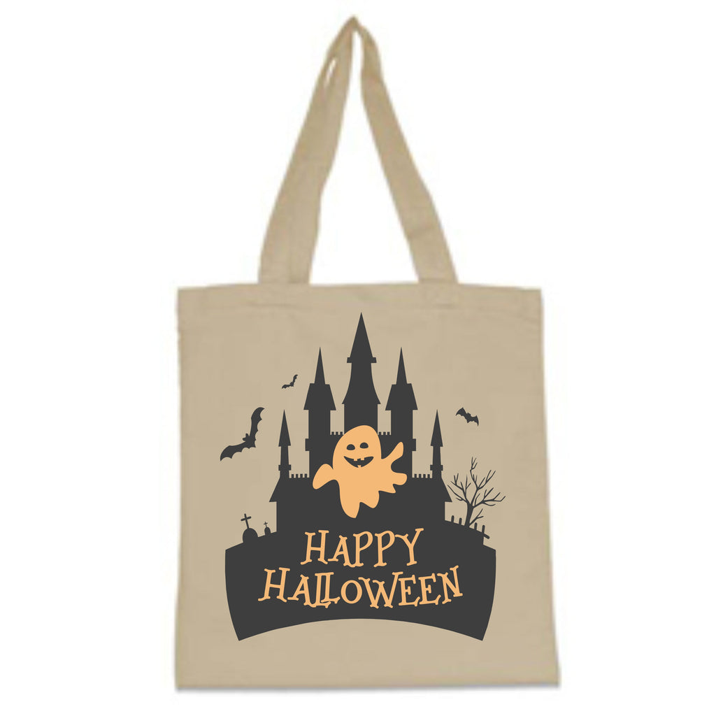 Happy Halloween Haunted House Trick-Or-Treat Bag Bags - TruColors Art & Design