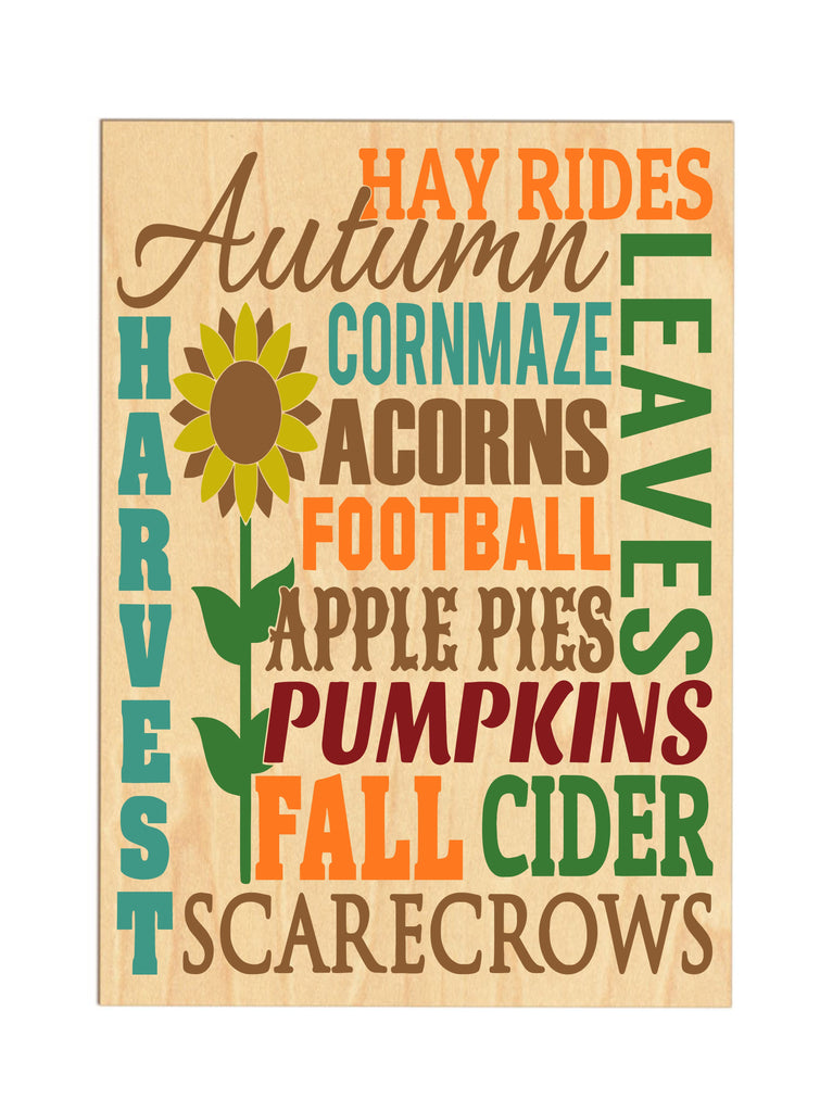 Hayrides & Scarecrows Wooden Sign sign - TruColors Art & Design