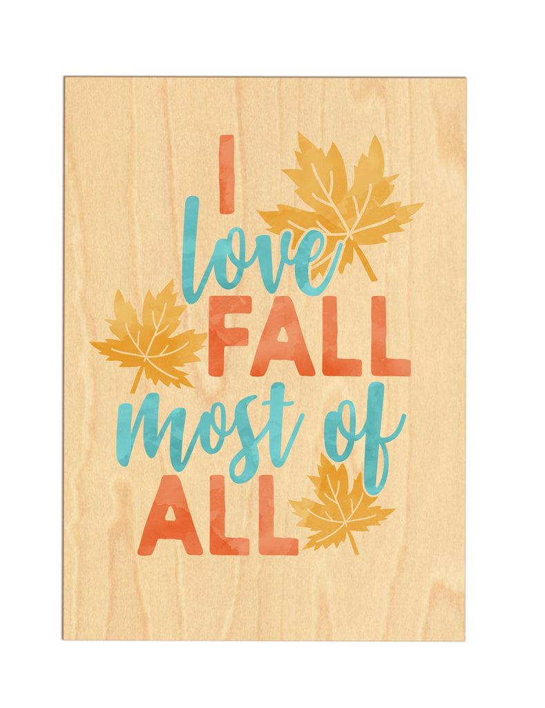 I Love Fall Wooden Sign sign - TruColors Art & Design