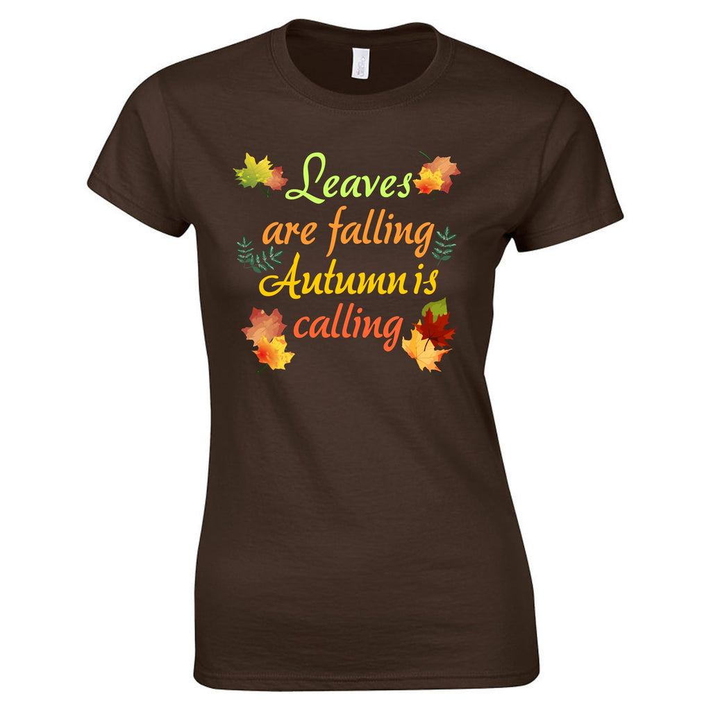 Autumn Is Calling Ladies Tee T-Shirts - TruColors Art & Design