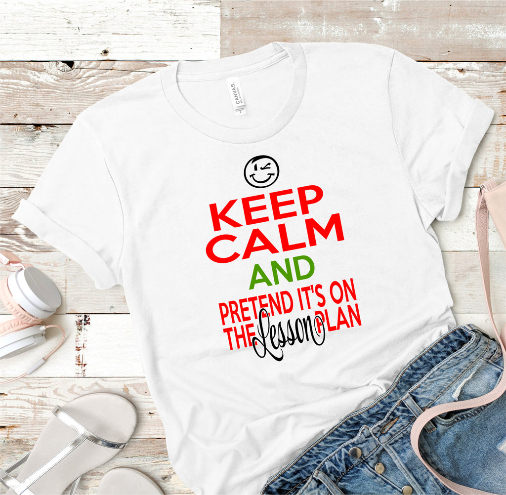 Keep Calm Teacher Tee