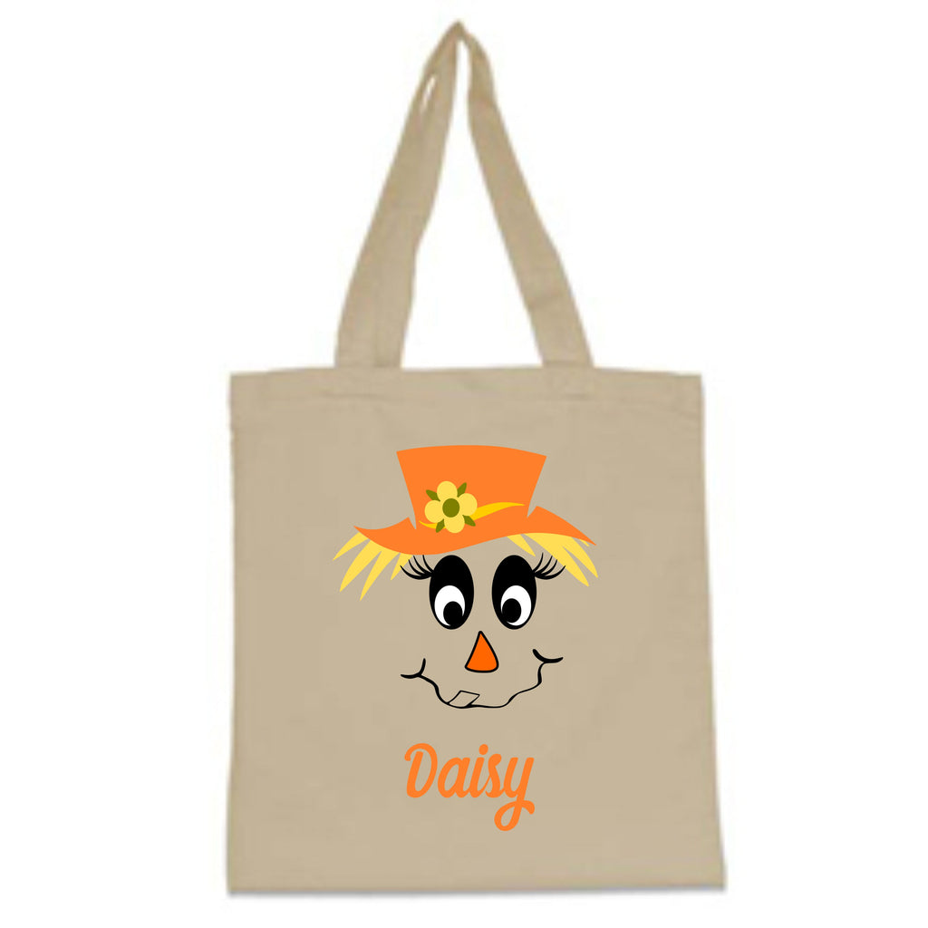 Personalized Scarecrow Halloween Trick-Or-Treat Bag Bags - TruColors Art & Design