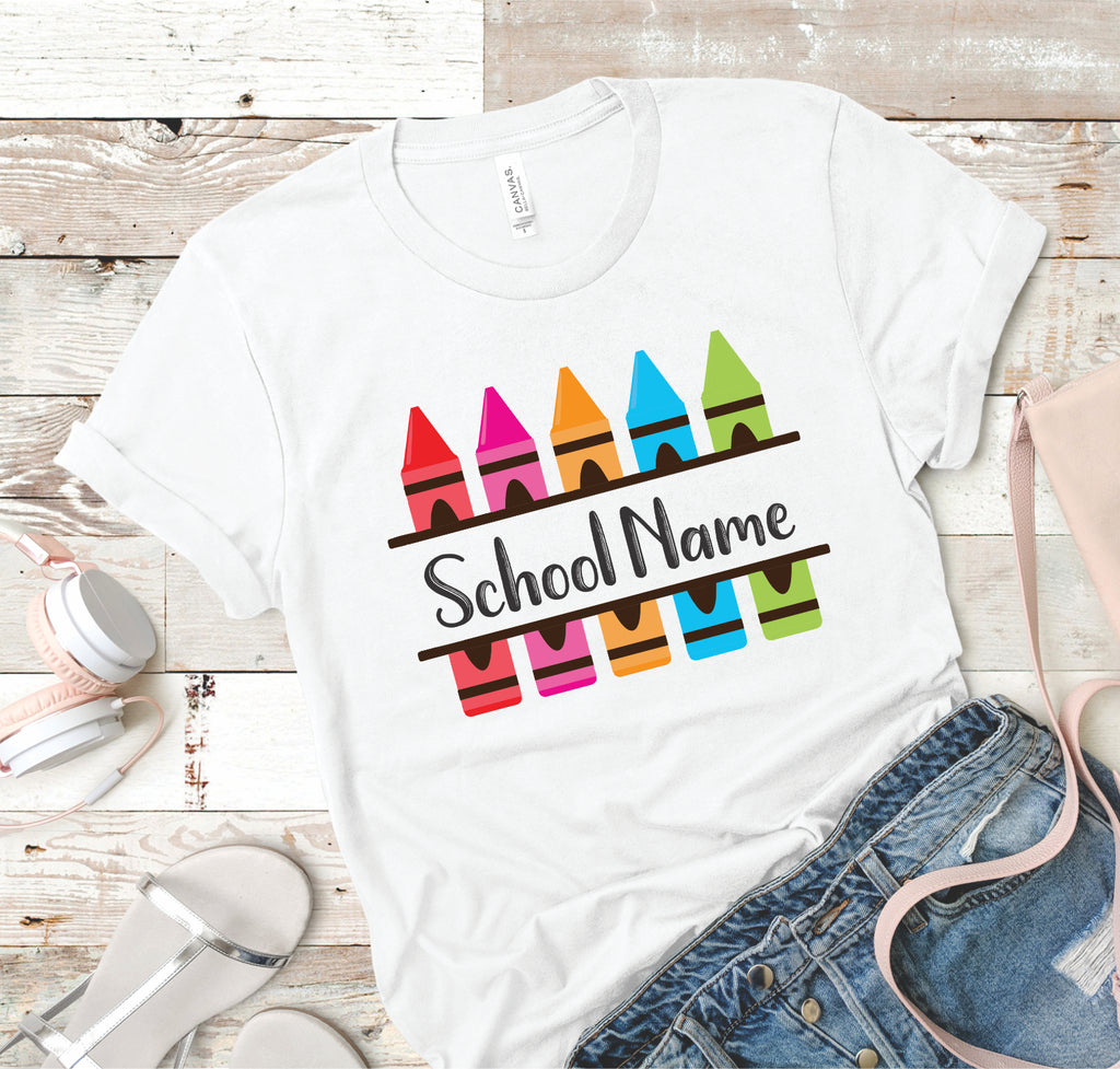 Your School Name - Crayons - Women's Tee