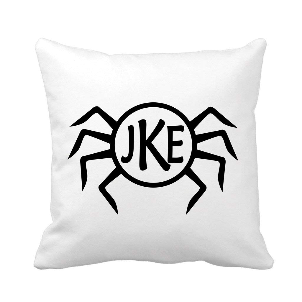 Spider Monogrammed Halloween Throw Pillow pillow - TruColors Art & Design
