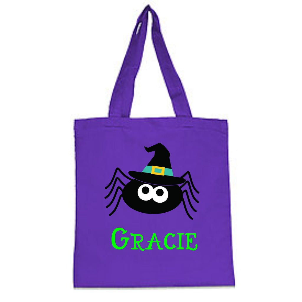 Personalized Spider Halloween Trick-Or-Treat Bag Bags - TruColors Art & Design