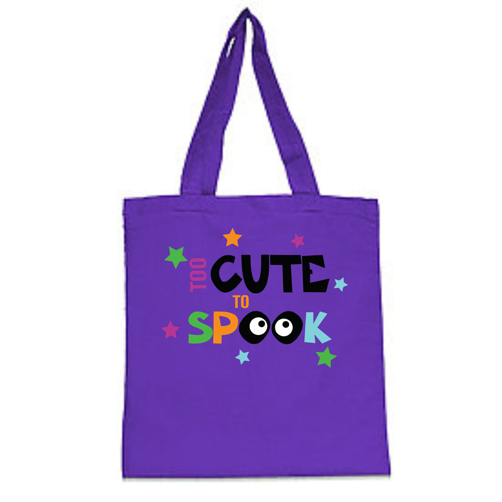 Too Cute To Spook Halloween Trick-Or-Treat Bag Bags - TruColors Art & Design