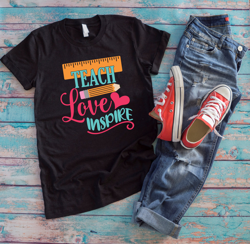 Teach - Love - Inspire Black Tee