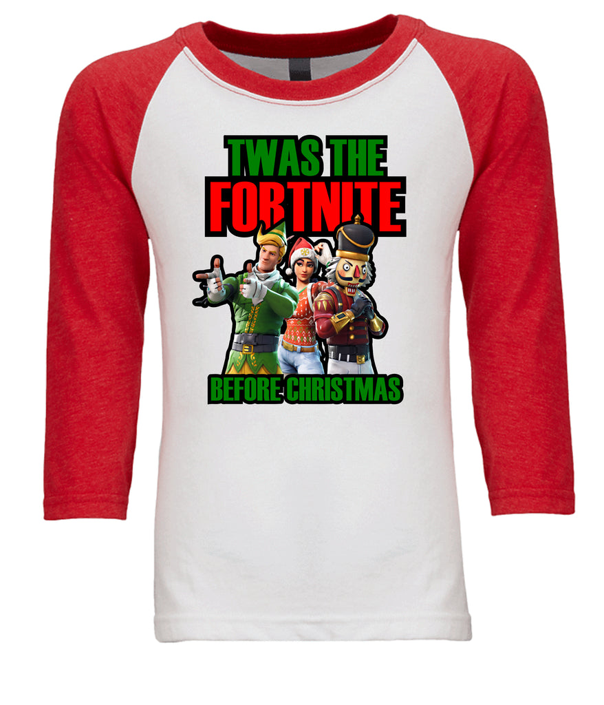 """Twas The Fortnite Before Christmas"" Tee T-Shirts - TruColors Art & Design"