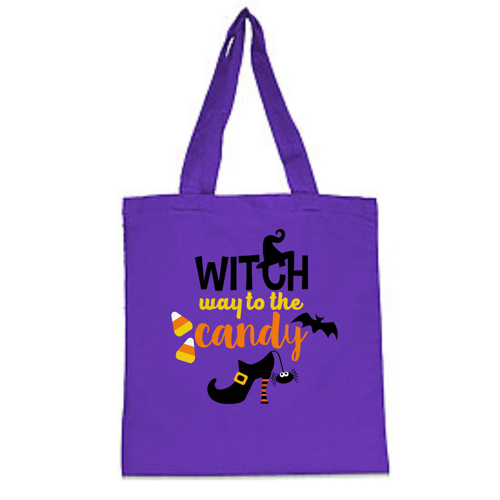 """Witch Way Is The Candy?"" Halloween Trick-Or-Treat Bag Bags - TruColors Art & Design"