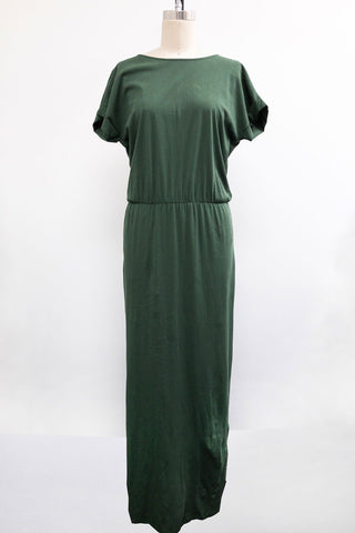 Overlap Back Maxi Dress