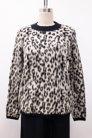 Leopard Brushed Sweater