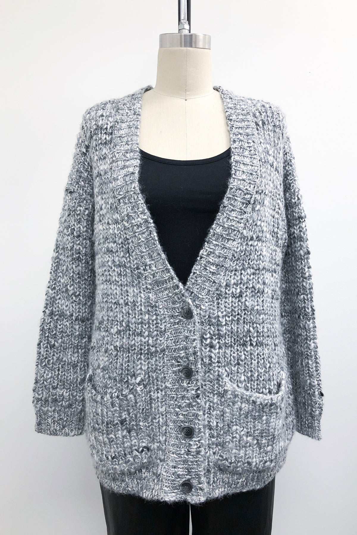 Spaced-dyed Button Up Cardi
