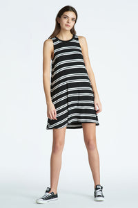 Striped A Line Tank Dress