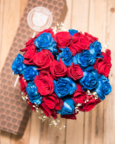 American Flag Rose Bouquet