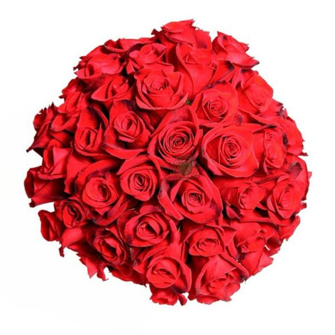 Red Vivid Rose Bouquet
