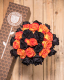Orange and Black Rose Bouquet