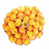 Sunset Bicolor Rose Bouquet